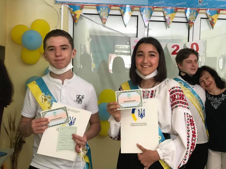 стамбул - випускники 9 та 11 класів міжнародного ліцею ім.тараса шевченка, м.стамбул, сьогодні отримали свідоцтва про здобуття середньої освіти